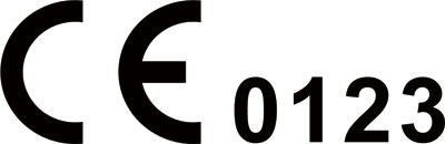mark of CE 0123 TUV
