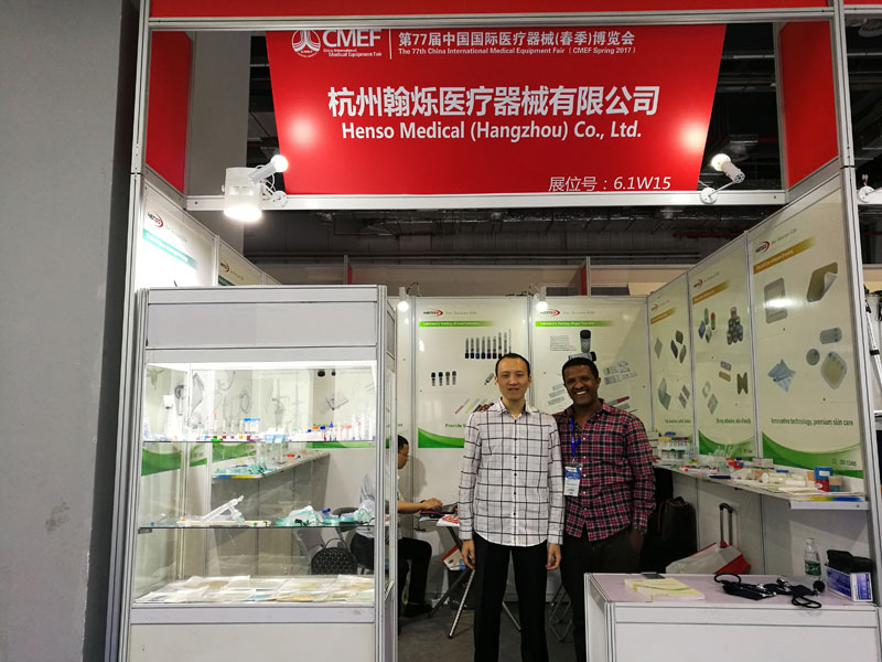 Hocky photo with Girum at CMEF medical fair