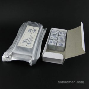 Cover glass 18x18mm in cover box pack wrapped by aluminum foil pouch