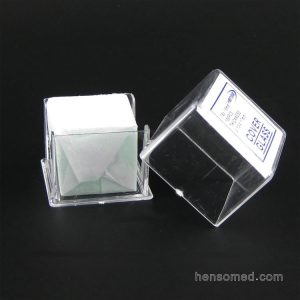 Cover glass 18x18mm in cover box pack