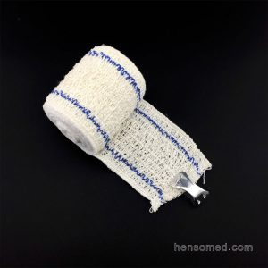 Medical Elastic Crepe Bandage With Red or Blue thread Line