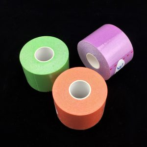 green, orange and purple kinesiology tape