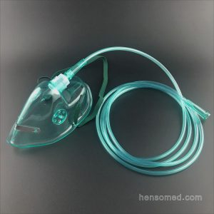 Oxygen Mask with Tubing Green
