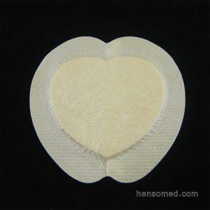 bordered silicone foam dressing adhesive