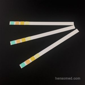 Urinalysis Reagent Test Strips 4 Parameters for Glucose pH Specific Gravity and Protein Test