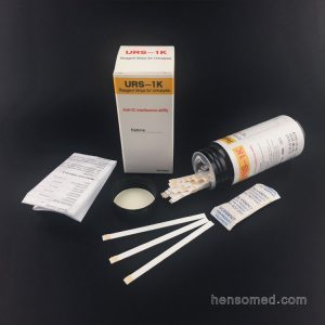 urine ketone test strips in bottle