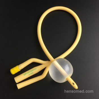 Latex Foley Balloon Catheter Three way