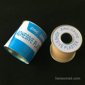 Zinc Oxide Adhesive Plaster Tape with metal cover