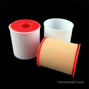 Zinc Oxide Adhesive Plaster Tape with plastic cover(4)