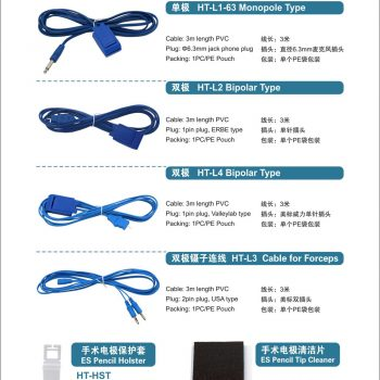 ESU Cable for Grounding Pad