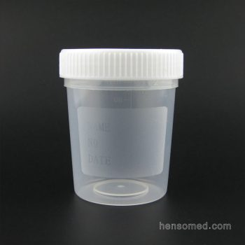 urine cup 100ml white screw cup